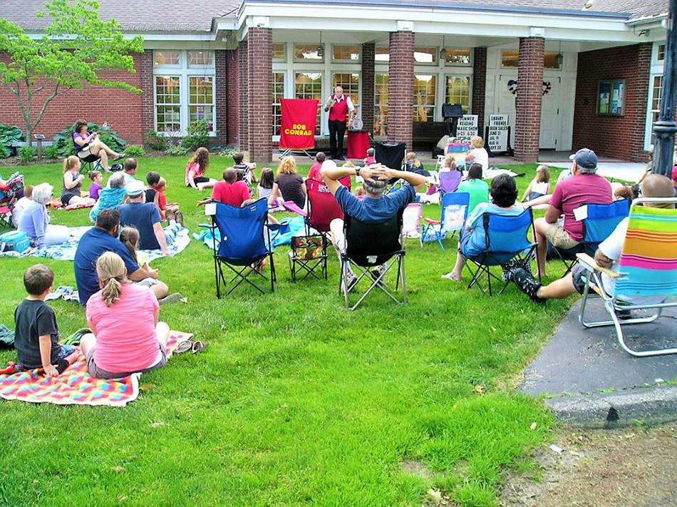 outdoor event at the library