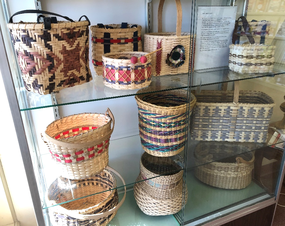 Display of hand woven baskets