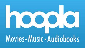 logo for Hoopla digital streaming service